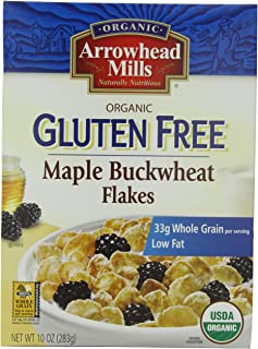 Arrowhead Mills Gluten Free Cereal, Organic Maple Buckwheat Flakes, 10 Ounce (Pack of 12)