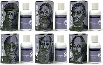 The Notable Series by Beardsley - Set of Six - Ultra Shampoo for Beards, Wild Berry 120ml, da Vinci, Socrates, Lincoln, Freud, Darwin, Shakespeare