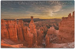 Bryce Canyon National Park, Utah - Thors Hammer Sunrise (10x15 Wood Wall Sign, Wall Decor Ready to Hang)