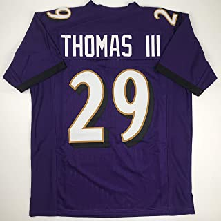 Unsigned Earl Thomas III Baltimore Purple Custom Stitched Football Jersey Size Men's XL New No Brands/Logos