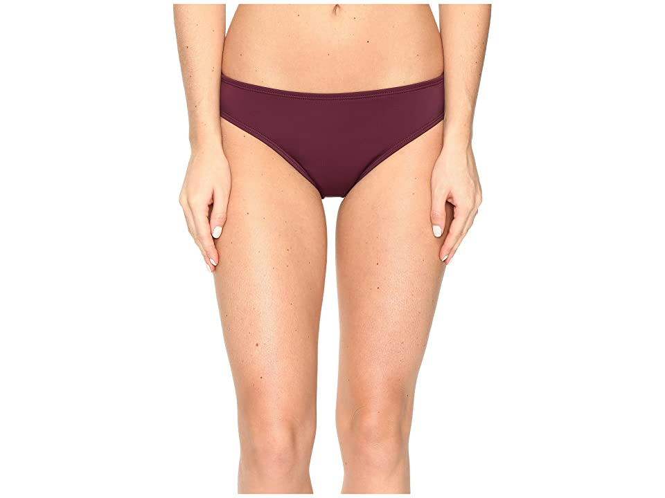 Nautica Soho Retro Bikini Bottom (Berry) Women