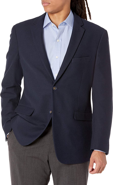 James Campbell Men's 2 Button Soft Knit Jacket