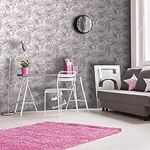 ورق جدران بتصميم حديقة الصيف باللون الوردي من غراهام آند براون