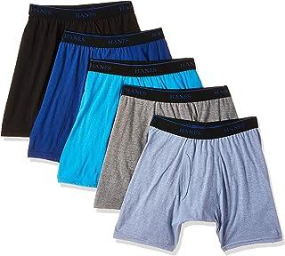 هانز سروال داخلي قصير للرجال - ألوان متنوعة Ubbb5A - مجموعة من 5 قطع، (المقاس: متوسط) - متعدد الألوان (ألوان متنوعة)