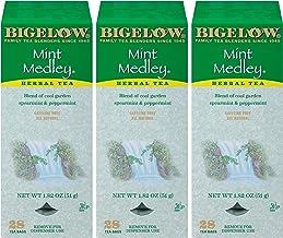 Bigelow Mint Medley Herbal Tea Bags 28-Count Box (Pack of 3) Mint Tea Bags Peppermint & Spearmint Herbal Tea All Natural G...