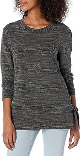 Daily Ritual Parte Superior de algodón de Rizo y Modal con cordón Lateral y Cuello en V. Camisa para Mujer