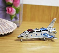 Chrome Plated Space Shuttle Free Standing with Mixed Swarovski Element Crystal