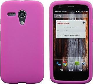 ac3014eea00 Luxburg® In-Colour Design funda protectora para Motorola Moto G 2013 en  color pink