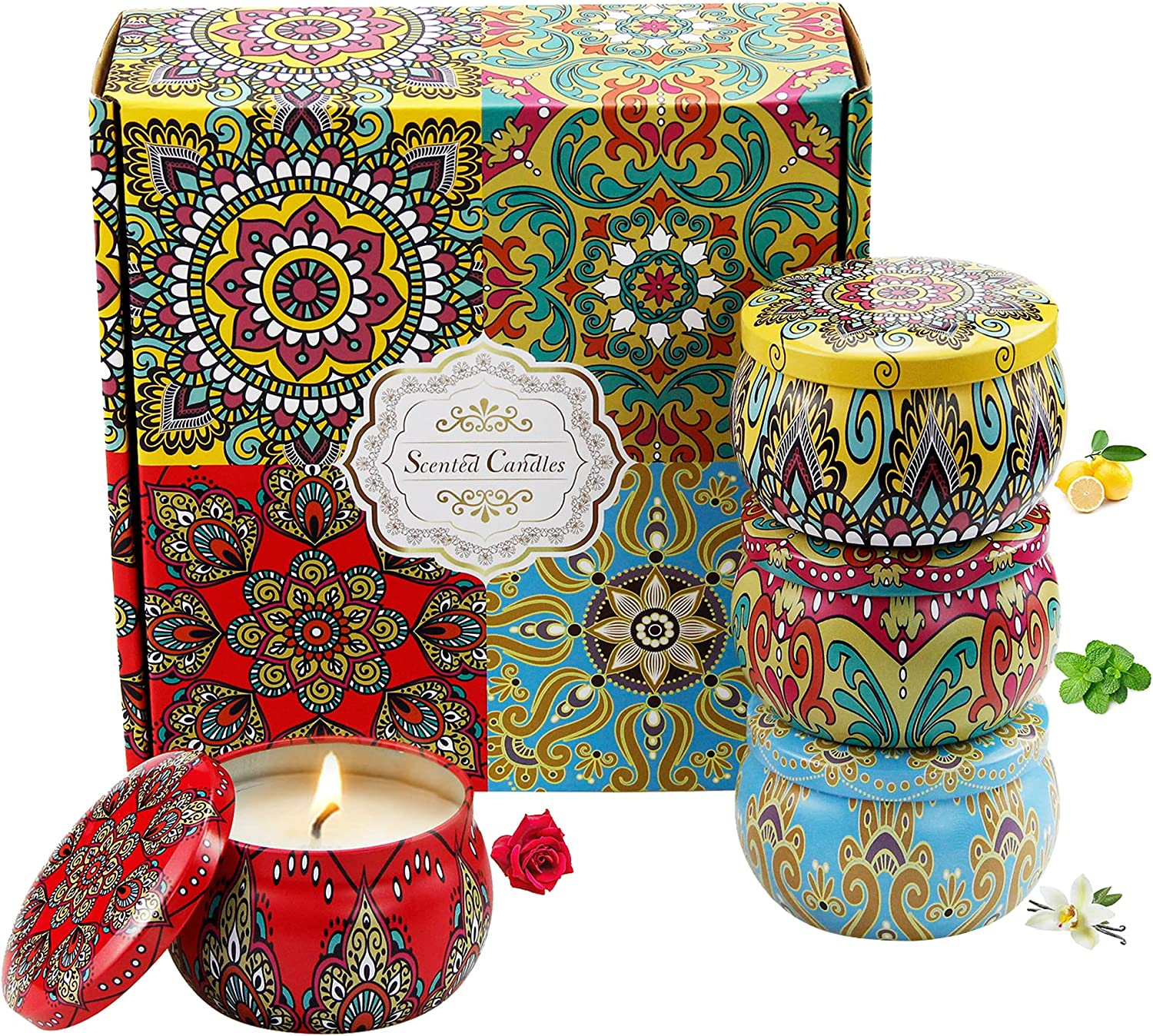 GIEVLROBN Scented Candles Ranking TOP17 Gift Set Popular shop is the lowest price challenge Aromatherapy Ca Wax 100% Soy