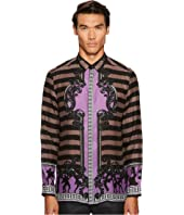 Versace Collection - Silk Striped Button Down