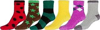 súper blando antideslizante Fuzzy calcetines Valor clasificó 6-Pack