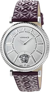 Versace Women's VQG010015 V-HELIX Analog Display Swiss Quartz Purple Watch