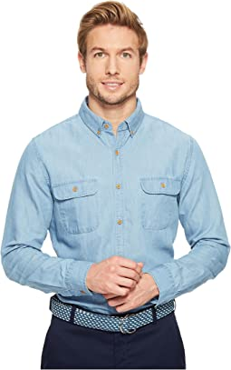 Baughers Chambray Two-Pocket Crosby Shirt