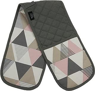 McAlister Vita Geometric Heat Resistant Oven Mitts - Double Glove | Blush Pink | Modern Scandinavian Minimalist Designer Decor Accent