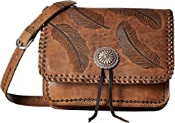American West - Sacred Bird Multi-Compartment Crossbody Flap Bag