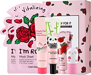 TONYMOLY Glow For It Rose and Peach Skincare Set, 11 oz.