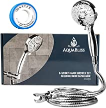 AquaBliss TheraSpa Hand Shower – 6 Mode Massage Shower Head with Hose High Pressure to Gentle Water Saving Mode - 6.5 FT N...