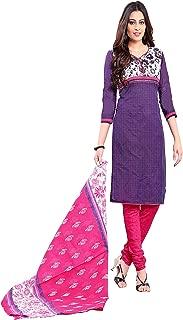 Minu salwar Cotton Printed Suit sets Purple(Apsara11_11003)