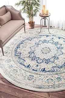 nuLOOM 200RZBD07A-505R Verona Vintage Persian Rug, 5' Round, Blue