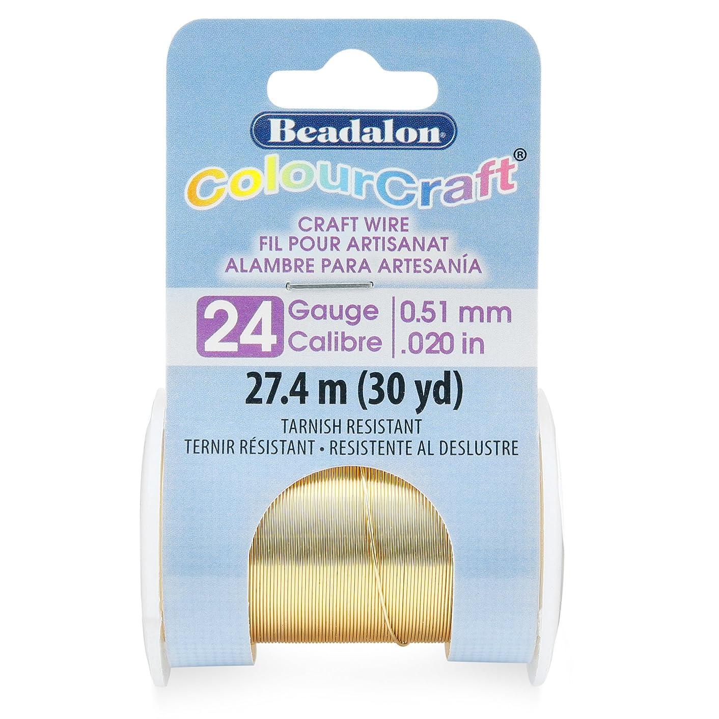 Beadalon 185R-024 ColourCraft Wire 24ga Light Brass
