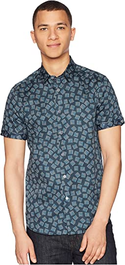 Tern Short Sleeve Square Geo Print Shirt