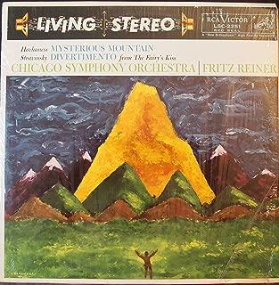 Hovhaness: Mysterious Mountain. Stravinsky: Divertimento. CSO, Reiner. Living Stereo