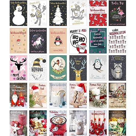 Edition Seidel Set 30 Weihnachtspostkarten Weihnachten Karten Postkarten Weihnachtskarten