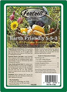Fertrell Earth Friendly All Purpose 5-5-3 Organic Fertilizer, 5 lb or 25 lb