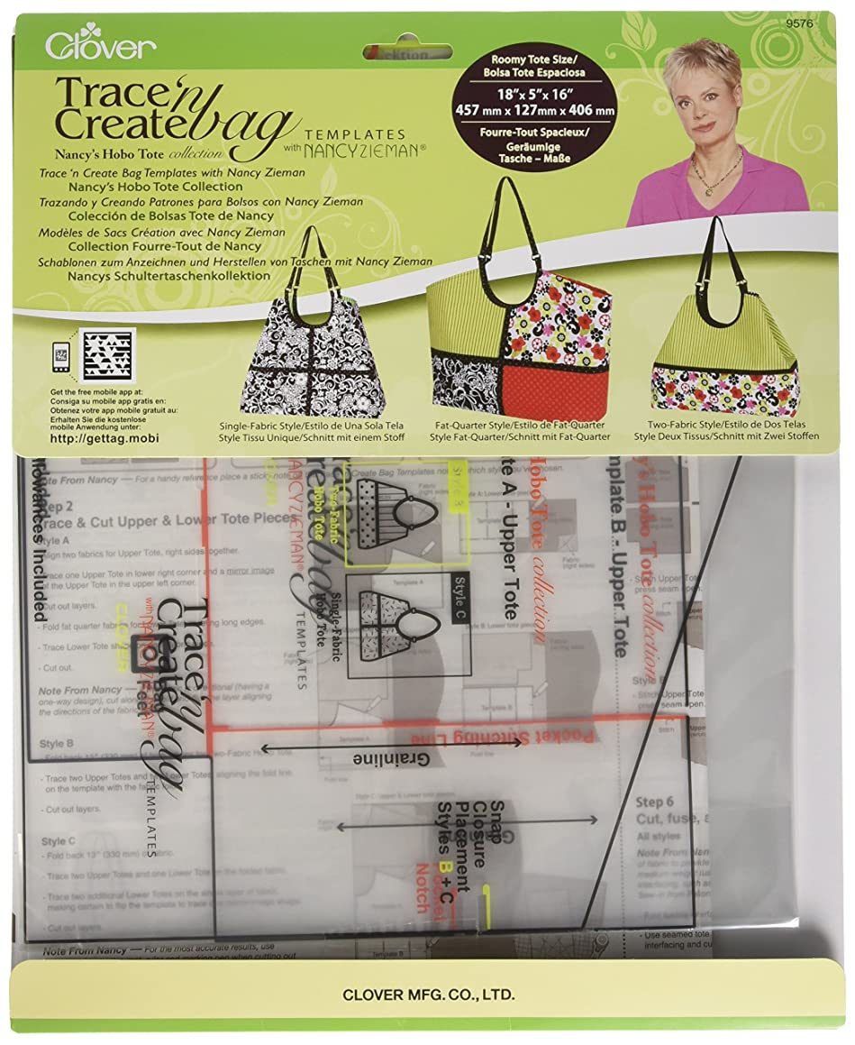 Clover Nancy's Hobo Tote Collection 9576 Trace 'n Create Bag Template