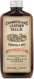 Chamberlains Leather Milk - Formula no. 1 - Conditioner for Furniture, Cars, Purses and Handbags. All-Natural, Non-Toxic, ...