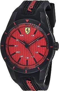 Ferrari Scuderia Red Rev Men's Red Dial Silicone Band Watch - 830248