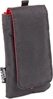 DURAGADGET Protective Black Pouch with Cushioned Red Lining - Suitable for Goodmans GDPRDAB Pocket DAB Radio