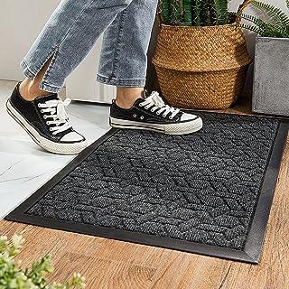 COSY HOMEER Door Mat Front Indoor Outdoor Doormat,Small Heavy Duty Rubber Outside Floor Rug for Entryway Patio Waterproof ...