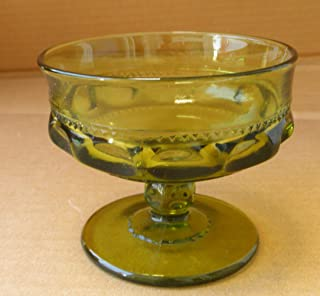 Indiana Glass King's Crown or Thumbprint 6 oz Ice Cream or Sherbert Goblet