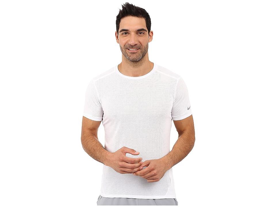Nike Dri-FITtm Cool Tailwind Running Shirt (White/White/Reflective Silver) Men