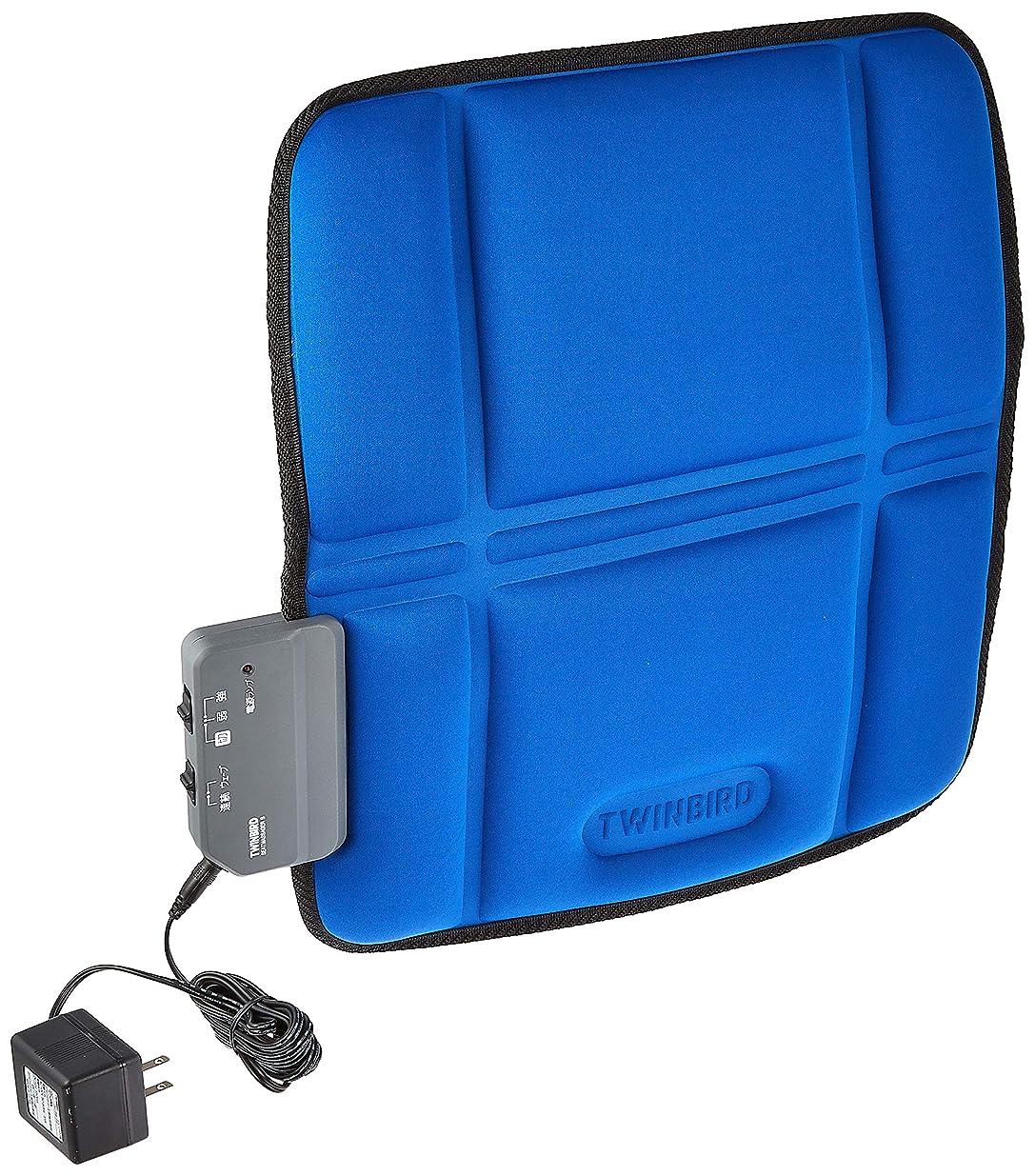 トラフィックガソリン滑りやすいツインバード シートマッサージャーS ブルー EM-2535BL