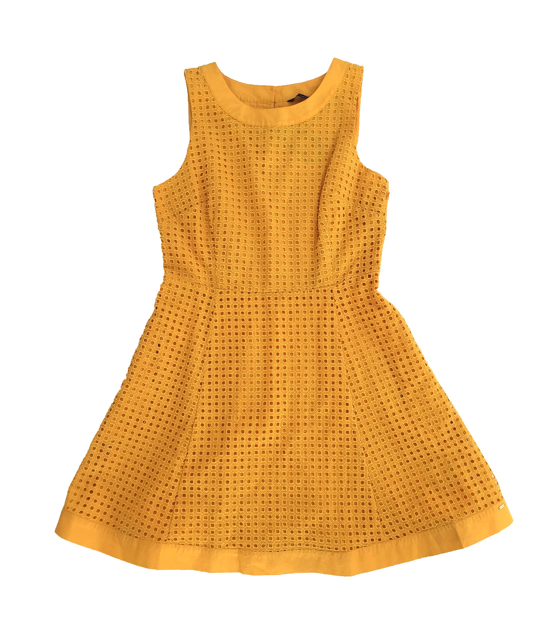 Available at Amazon: Tommy Hilfiger Women's Eyelet Fit & Flare Dress Yellow