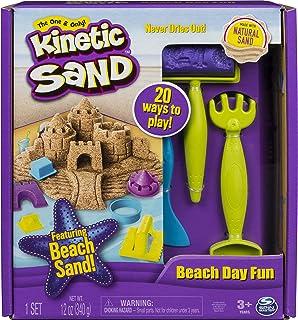 Kinetic Sand, Zabawa na plaży, piasek kinetyczny z foremkami, dla dzieci od 3 lat