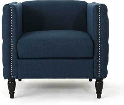 Amazon Com Classic And Traditional Linen Fabric Accent Chair