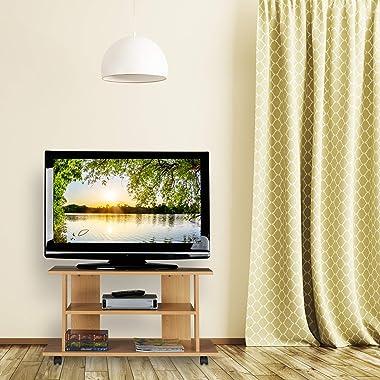 Relaxdays Meuble, 2 Compartiments, Console, Table TV sur roulettes HlP 45 x80x40cm, Effet Bois, Panneau de Particules, Papier