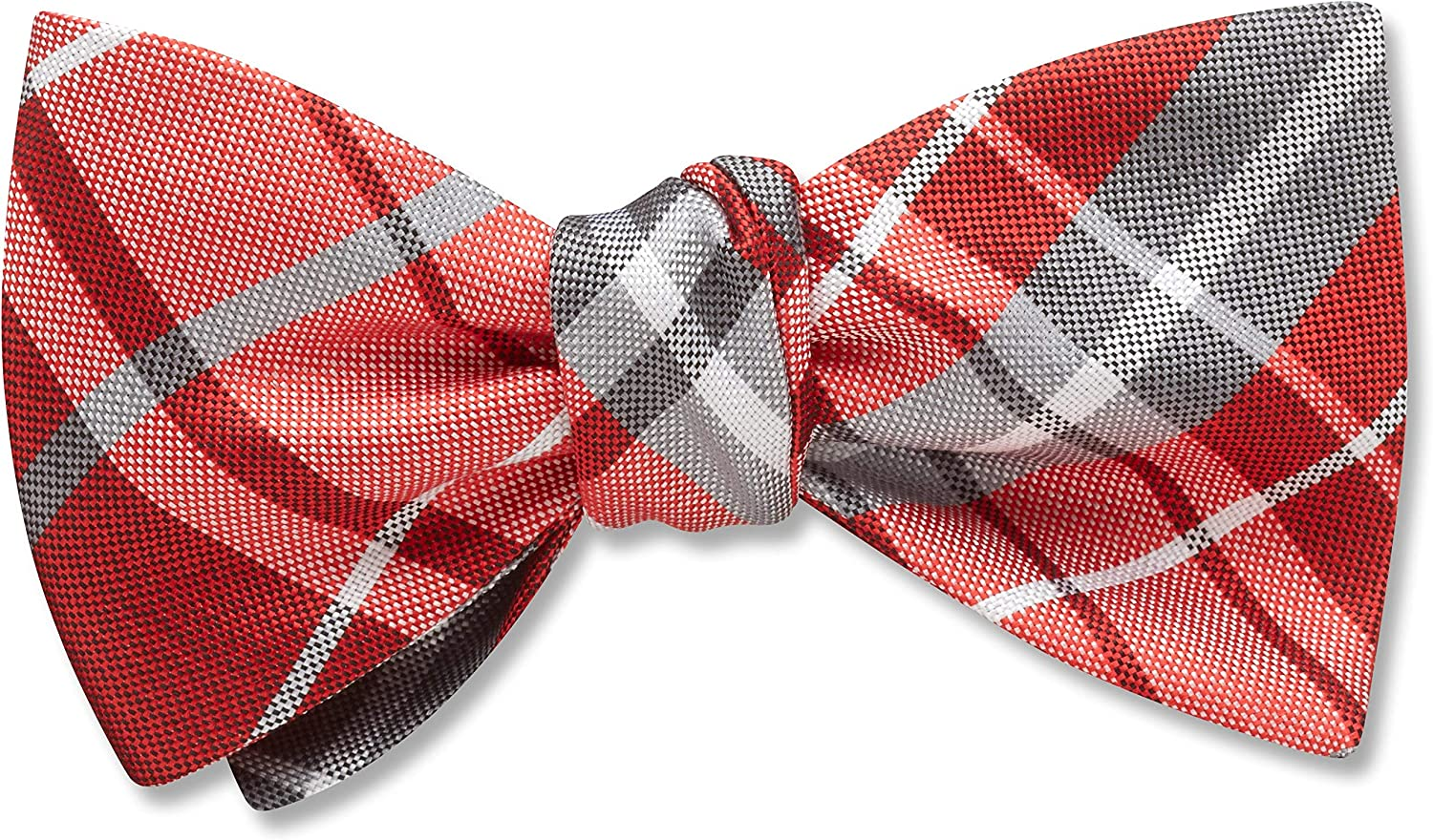 Mansfield Persimmon Red Plaid, Men's Bow Tie, Handmade in the USA