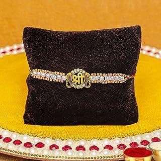 TIED RIBBONS Raksha Bandhan Rakhi for Brother - Gifts from Sister Designer Rakhi with Wishes Card