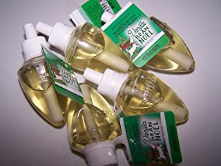 Bath & Body Works Lot of 5 Vanilla Bean Noel WallflowerHome Fragrance Refill Bulbs (Vanilla Bean Noel)