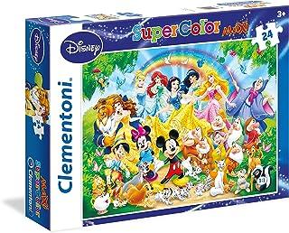 Clementoni - 24473 - Supercolor Puzzle - Disney Family - 24 Maxi Pieces