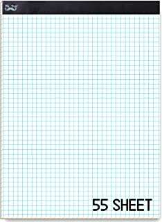 """Mr. Pen- Graph Paper, Grid Paper, 4x4 (4 Squares per inch), 8.5""""x11"""", 60 Sheet Papers, Drafting Paper, Squared Paper, Blue..."""
