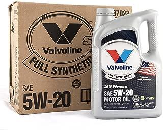Valvoline SynPower 5W-20 Full Synthetic Motor Oil - 5qt (Case of 3) (787023-3PK)