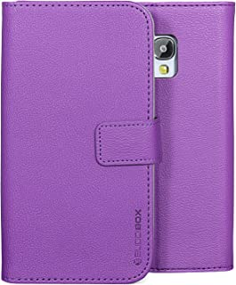 Galaxy S6 Active Case, BUDDIBOX [Wrist Strap] Premium PU Leather Wallet Case with [Kickstand] Card Holder and ID Slot for Samsung S6 Active, (Purple)