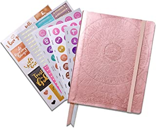 Deluxe Law of Attraction Life Planner - Weekly & Monthly Planner to Increase Productivity & Happiness - Organizer & Gratitude Journal (Undated, Rose Gold) + Bonus Planner Stickers