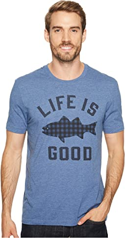 Fish Pattern Life is Good® Cool Tee