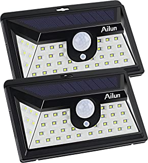 Ailun Courtyard Light[2Pack]42 LED Motion Sensor Solar Light Courtyard Lamp,120° Sensing Angle Super Bright Solar Powered Wall Path Light,Wireless Home Security Outdoor Light with Motion Activated